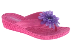987f494843 Capelli New York Woven Texture Girls Wedge Flip Flop With Flower
